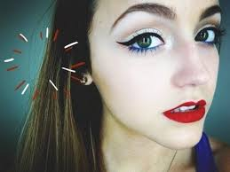 wearable 4th of july makeup tutorial