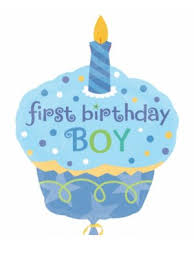 1st Birthday Boy Little Cup Cake 29 X 36 Partynutters Uk
