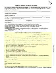 Sample Partnership Agreement Form Sample Of Partnership Agreement For Child Care Business Form