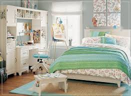 Perfect Teen Bedroom For Girls with green and white combination