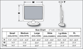 Computer Monitor Sizes Chart Lcd Harness Carrying Bags