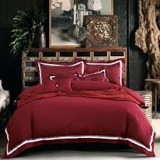 red king size bedding com cotton wine red bedding set queen within duvet covers king red king size bedding