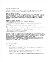 Good Objective For A Resume Dew Drops