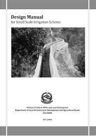 Irrigation Weir Design Design Mannual For Small Scale Irrigation Scheme Book