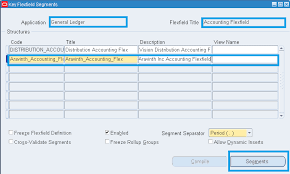 Oracle Applications Functional Creating Chart Of Accounts