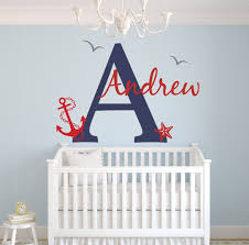 wall decor by lovely decals world llc custom nautical name wall decal baby