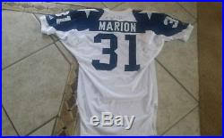 Marion Dallas Used » 1994 Game Cowboys Jersey Brock Autographed Apex