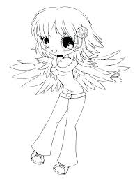 Homely Ideas Chibi Anime Coloring Pages Page Fascinating Cute 15