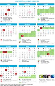 Calnedar Academic Calendar Gems World Academy Singapore