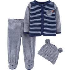 Carter's Infant <b>Boys 3 Pc</b>. Footed Pants Set | Baby Boy 0-24 Months ...