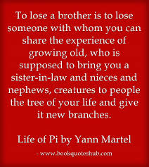 Loss Of A Brother Quotes Adorable Losing A Brother Quote Book Quotes Hub