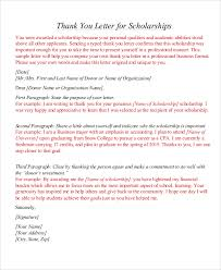 Scholarship Thank You Letter Format1