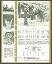 Kentucky Derby Race Chart Details About 1913 Donerail Kentucky Derby Wc Race Chart Jockey Owner