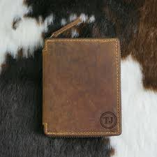 details about personalised zip around leather wallet genuine hunter leather men gift au