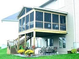 screen rooms for decks porch screened free standing diy room aluminum kits portable