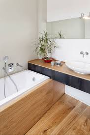 image bathtub decor: wooden bamboo bathroom details interior luxury home design