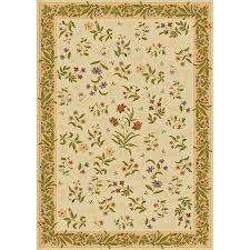 mohawk home summer flowers beige rectangular indoor tufted area rug common 8 x 11