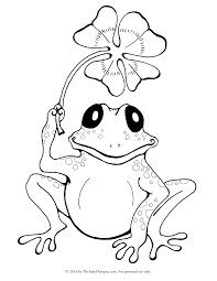 Small Picture Frog Coloring Pages Coloring Page