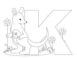 Free Kindergarten Alphabet Worksheets Animal Alphabet Letter K