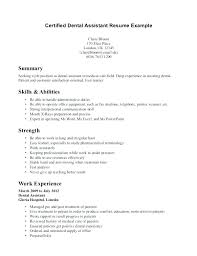 Dental Assistant Resume Template Mesmerizing Dental Assistant Resume Examples Dental Assisting Resume Example Of