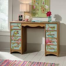 scribed oak effect home. Sauder Eden Rue Desk, Scribed Oak/Cobblestone Oak Effect Home T