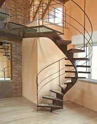 Stair Appealing Home Interior Decoration With Floating Spiral