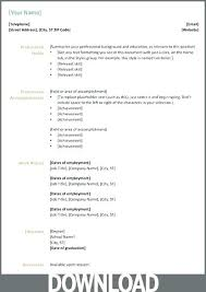 Resume Format Microsoft Word 2007 Letter Resume Directory