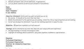 Objective Line For Resume Nfcnbarroom Com
