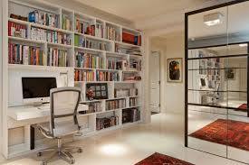 view in gallery bookshelf with a fold down desk
