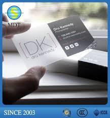Translucent Plastic Business Cards Plastic Pvc Business Id Card Printing Transparent Translucent Business Cards Wholesale Buy Plastic Pvc Business Id Card Transparent Translucent