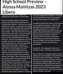 Amazing article on Alyssa... - Alamo Volleyball Association | Facebook