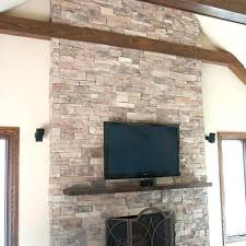 stacked stone veneer fireplaces mountain stack fireplace cost outdoor s