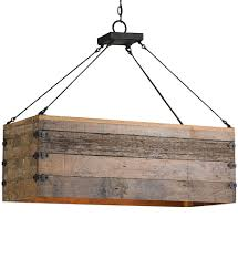 currey company 9994 billycart 3 light chandelier with natural aged wood black