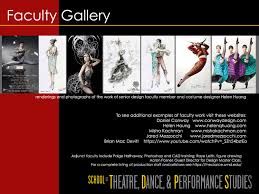 Fashion Design Schools In Maryland Mfa In Design Umd School Of Theatre Dance And Performance