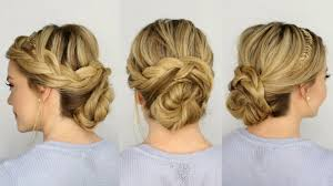 French Braid Updo Hairstyles French Braid Updo Youtube
