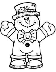 Small Picture Hugging Snowman coloring page Free Printable Coloring Pages