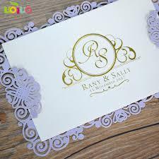 Cheap Price Simple Laser Cut Paper Menu Card Wedding Invitation Card