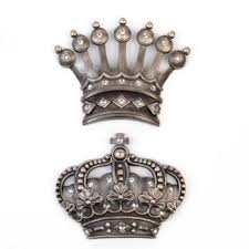 sensational his and hers crown wall decor her silver jeweled plaque set of 2 jewel walls