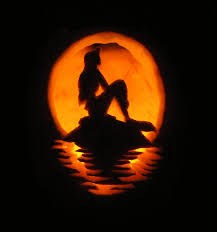 Ariel Pumpkin Carving Pattern Little Mermaid Pumpkin Carving Travel Pinterest Pumpkin