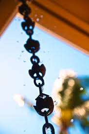 chain downspout. Rain Chain With Flower Cups, Image By Zach Dischner (CC BY 2.0) Downspout