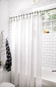 bathroom reveal minimalist curtainscool diy projectsshower curtain ringscool