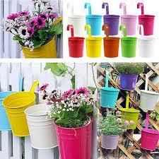 garden metal flower pots wall hanging
