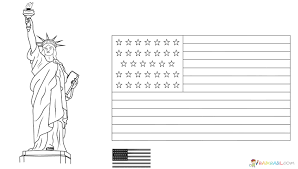 Department of state, office of procurement executive lists the specifications for flag manufacturing. American Flag Coloring Pages You Can Print On The Site For Free