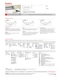 Peerless Lighting 7crm3l Peerless Lighting 7crm3 T5_t5ho User Manual 2 Pages