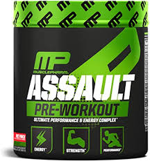 MusclePharm <b>Assault Pre-Workout</b> Powder for <b>Energy</b>, Focus ...