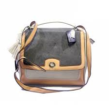 Coach Sadie Flap Medium Grey Crossbody Bags DJP