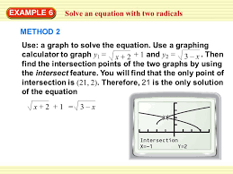 example 6 solve an equation with two radicals method 2