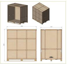 antiluce warehouse container specification 20 klimps per container antiluce fastening front door storage space of 250 cubic feet fully collapsible