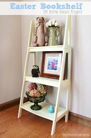 easter bookshelf diy home decor project