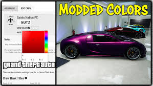 Test Paint Color Online Gta 5 Online New Modded Crew Color Method Get Any Rare Paint